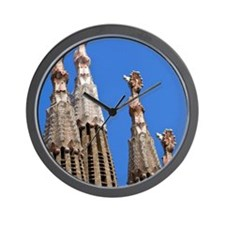 Spain, Catalonia, Barcelona, The church Wall Clock