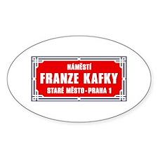 Námestí Franze Kafky, Prague (CZ) Oval Decal