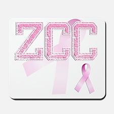 ZCC initials, Pink Ribbon, Mousepad