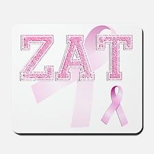 ZAT initials, Pink Ribbon, Mousepad