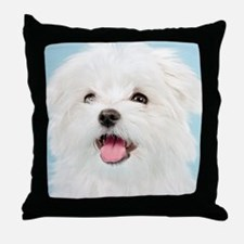 Cute Maltese Throw Pillow