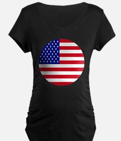 Round USA Independence Day  T-Shirt