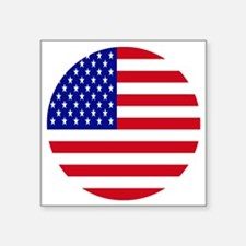 """Round USA Independence Day  Square Sticker 3"""" x 3"""""""