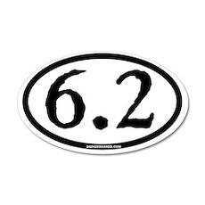 6.2 - plain - ticonderoga -  35x21 Oval Wall Decal