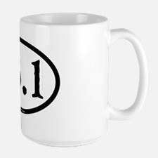 13.1 - plain - ticonderoga - circle Large Mug