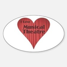 I Love Musical Theatre Oval Decal