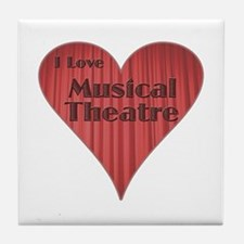 I Love Musical Theatre Tile Coaster