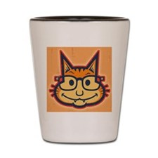 cat-nerd2-LG Shot Glass