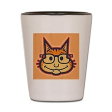 cat-nerd2-PLLO Shot Glass