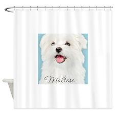 Cute Maltese Shower Curtain