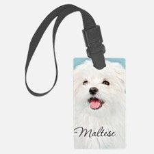 Cute Maltese Luggage Tag