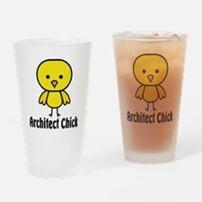 Architect Chick Drinking Glass