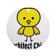 Architect Chick Round Ornament