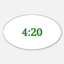 4:20 Oval Decal