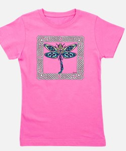 Dragonfly Shower Curtain Girl's Tee