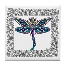 Dragonfly Shower Curtain Tile Coaster