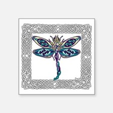 "Dragonfly Shower Curtain Square Sticker 3"" x 3"""