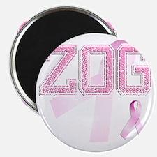 ZOG initials, Pink Ribbon, Magnet