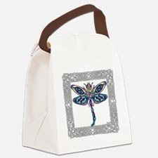 Dragonfly Shower Curtain Canvas Lunch Bag