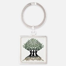 Tree of Life Shower Square Keychain