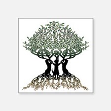 "Tree of Life Shower Square Sticker 3"" x 3"""