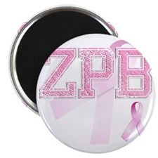 ZPB initials, Pink Ribbon, Magnet