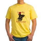 Schnauzer Mens Yellow T-shirts