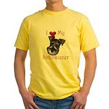 Schnauzer Mens Yellow T-shirts