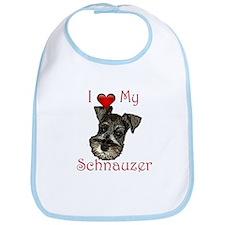 I love my Schnauzer Pup Bib