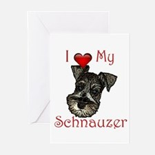 I love my Schnauzer Pup Greeting Cards (Package of