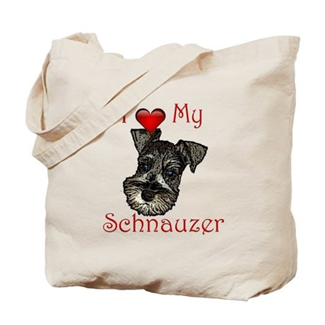 I love my Schnauzer Pup Tote Bag