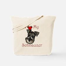 I love my Schnauzer Pup Tote Bag