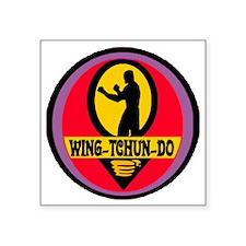 "Wing Tchun Do Logo Square Sticker 3"" x 3"""
