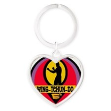 Wing Tchun Do Logo Heart Keychain