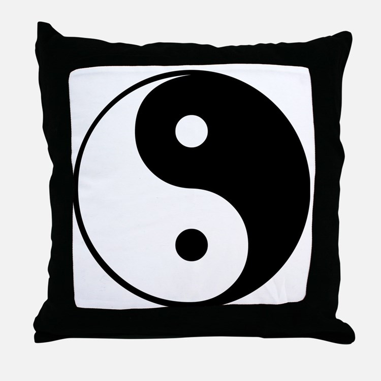 Yin and yang pillows yin and yang throw pillows for Yin yang couch