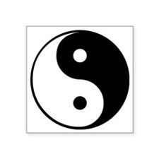 "Yin and Yang Square Sticker 3"" x 3"""