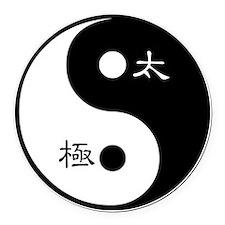 Tai Chi Yin Yang Symbol Round Car Magnet