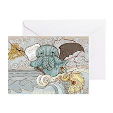 Cthulu Hellephant Greeting Card