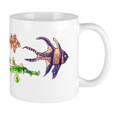 Six Cartoon Fish Small Mug