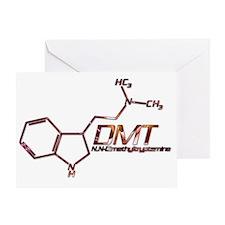 DMT Molecule Orange Greeting Card