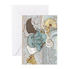 Chtulu Hellephant Greeting Card