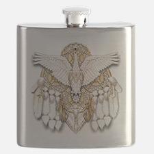 Native American Swan Mandala Flask