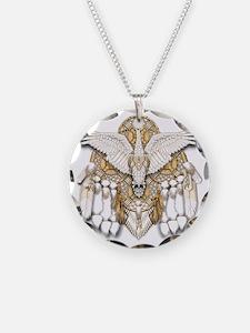 Native American Swan Mandala Necklace