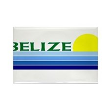 Cute Belize Rectangle Magnet
