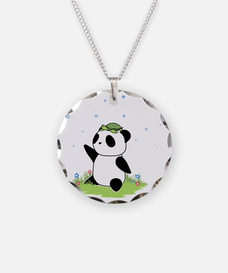 Turtle on a Panda Necklace
