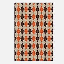 Orange Brown and Beige Ar Postcards (Package of 8)