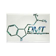 DMT Molecule Blue Rectangle Magnet