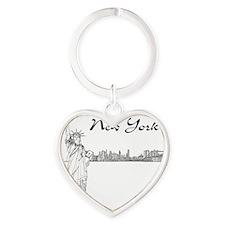 NY_10x10_Skyline_Statue_Black Heart Keychain
