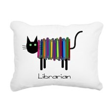 Librarian Book Cat Rectangular Canvas Pillow