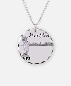 NY_12x12_Skyline_Statue_Blac Necklace